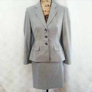 Ann Taylor LOFT 3 Piece Gray Suit Size: 4